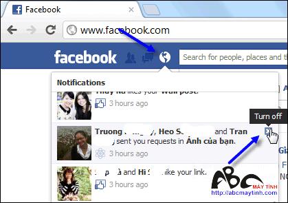 Tắt nhanh các thông báo của Facebook