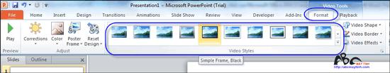 5 mẹo để phát video trong PowerPoint 2010 thật ấn tượng