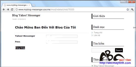 Cẩn thận với chiêu thức hack password qua Yahoo! Messenger