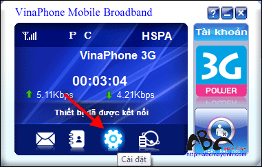 4 bước để mở mạng USB 3G ezCom của Vinaphone