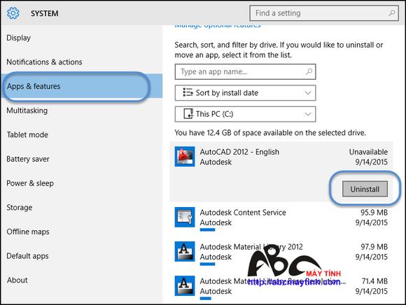 Cách gỡ bỏ phần mềm trong Windows 10