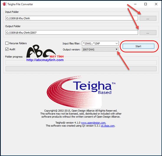 Teigha File Converter – Chuyên gia chuyển đổi phiên bản của AutoCAD